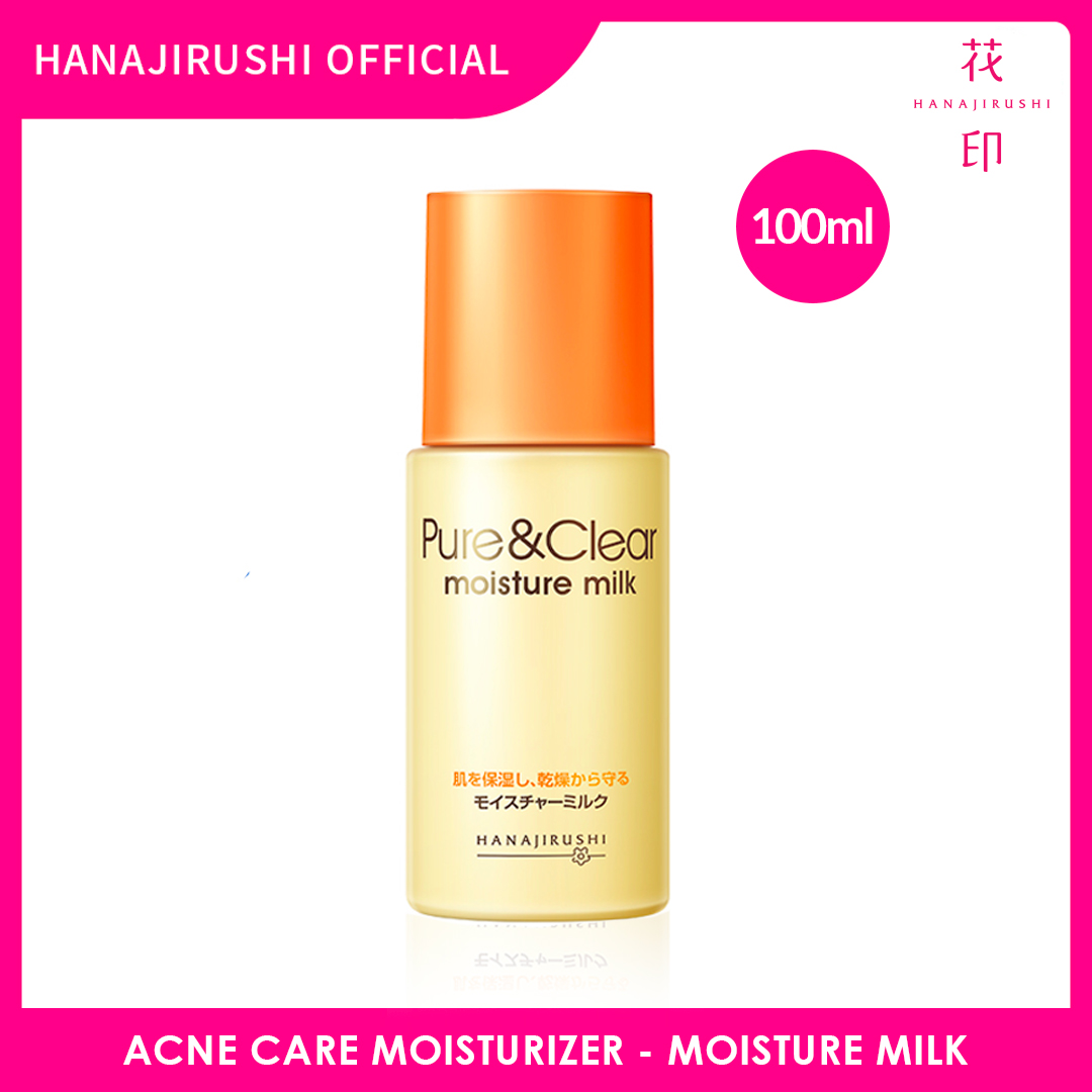 Hanajirushi Acne Care Moisturizer - Pure & Clear Moisture Milk 100ml