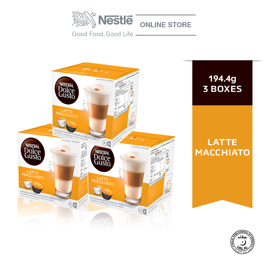 NESCAFE Dolce Gusto Latte Macchiato Coffee Bundle of 3 Boxes ExpDate:AUG20