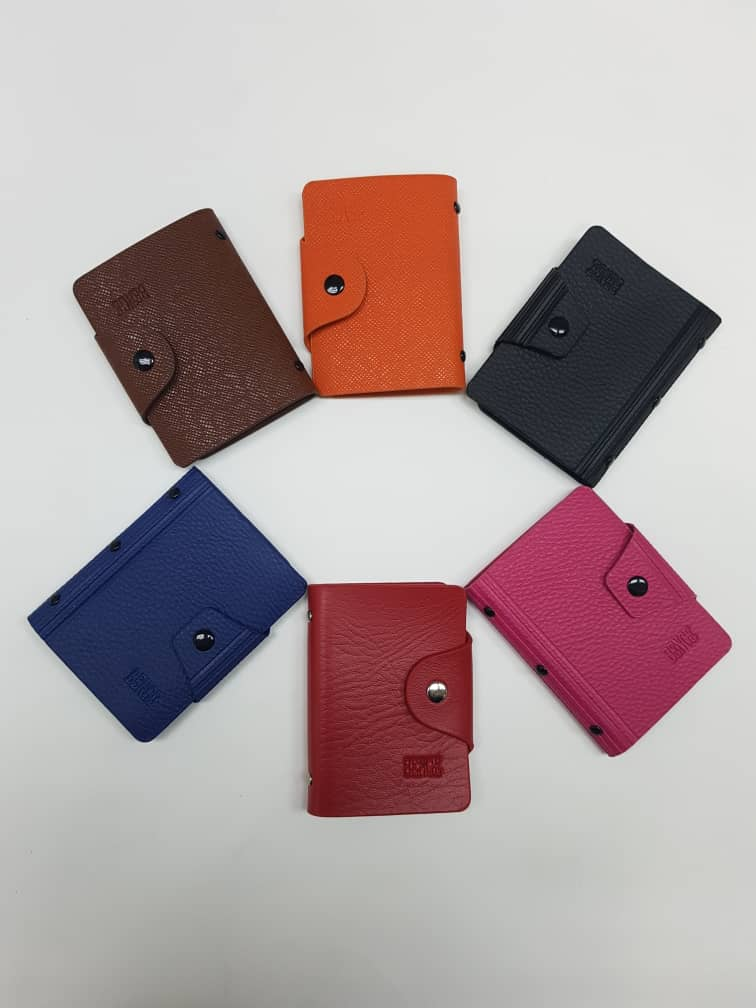 PU Leather Name Card Holder (with button) - 20 Pocket