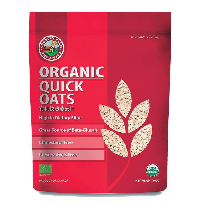 Ready Stock] Cosway Country Farm Organics Organic Quick Oats 500g