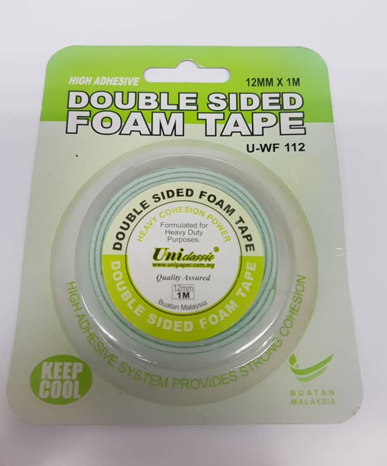 DOUBLE SIDED FOAM TAPE 12mm x 1m (U-WF 112)