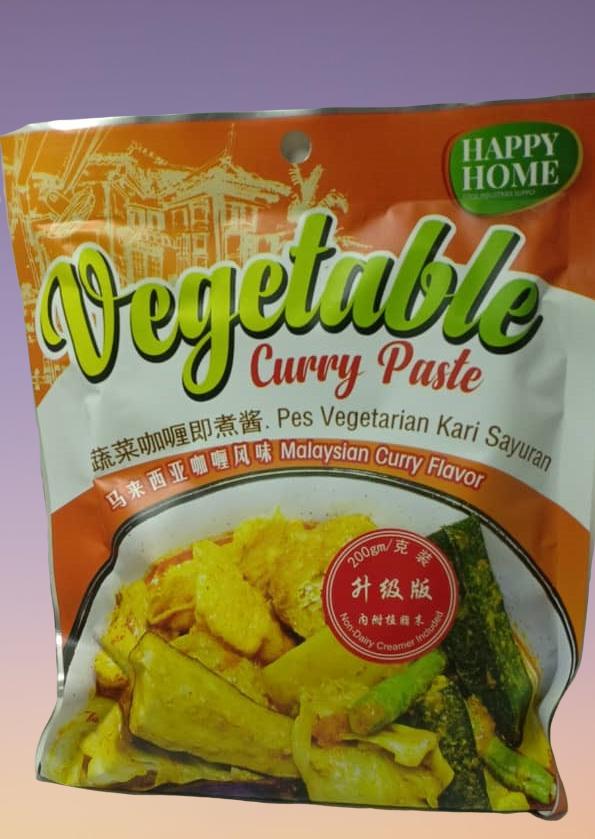 HAPPY HOME Vegetable Curry Paste 蔬菜咖喱即煮酱 (130g)
