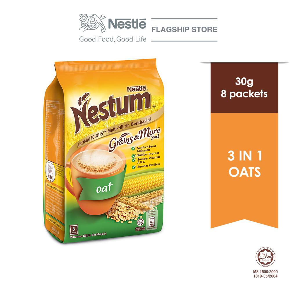 NESTLE NESTUM Grains & More 3in1 Oats 8 Packets 30g