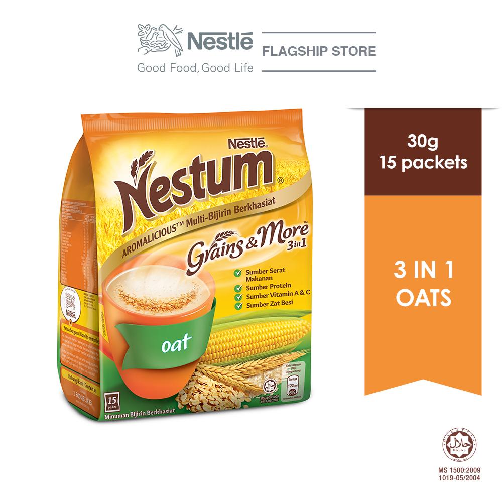 NESTLE NESTUM Grains & More 3in1 Oats 15 Packets 30g