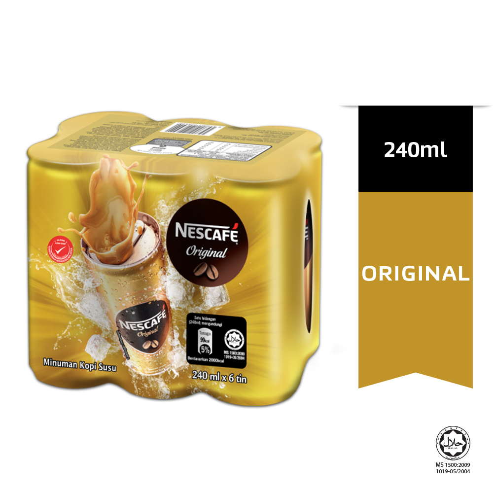 NESCAFE Original RTD 6 Cans, 240ml Each