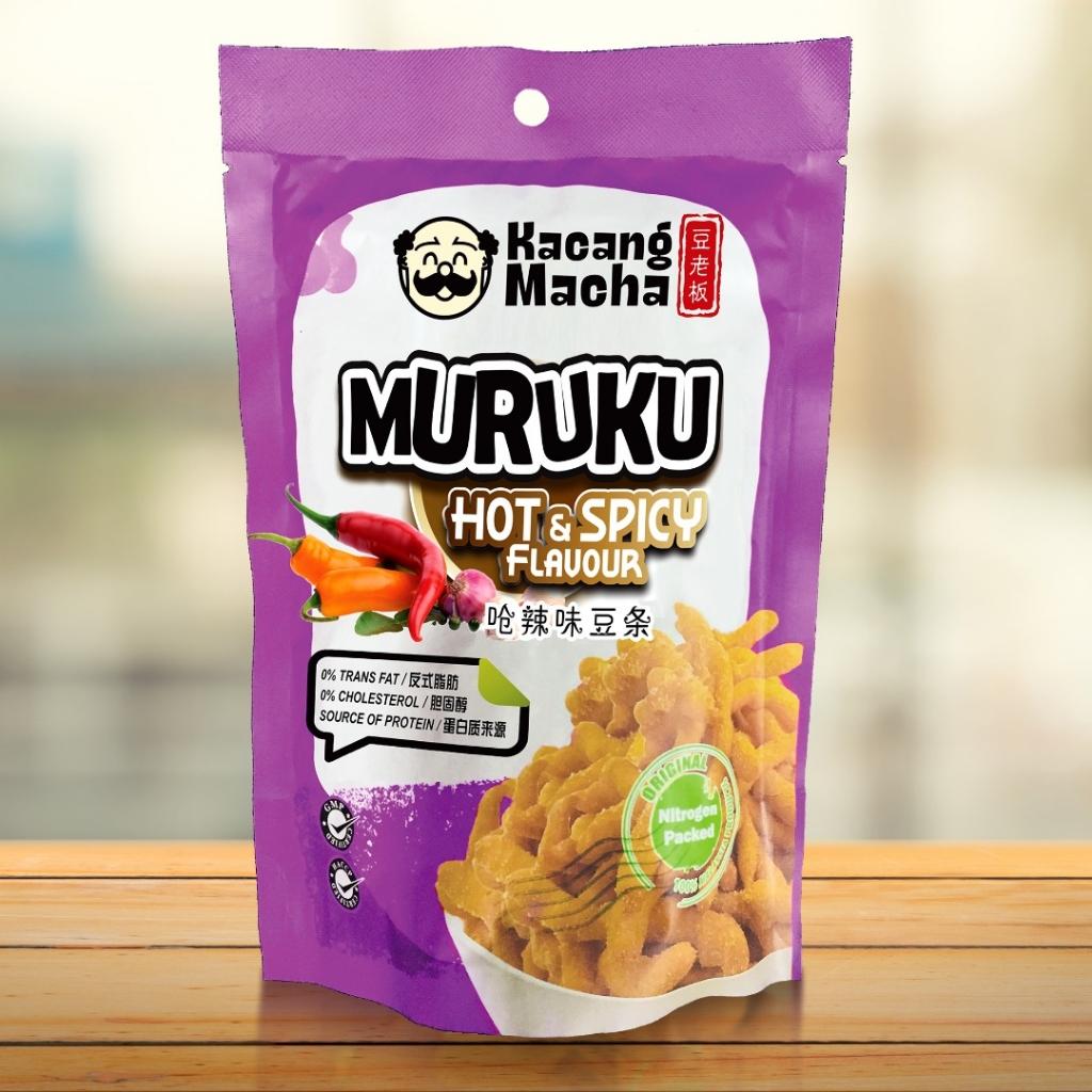 KACANG MACHA MURUKU (HOT & SPICY FLAVOUR) - 60g (PACK OF 9)