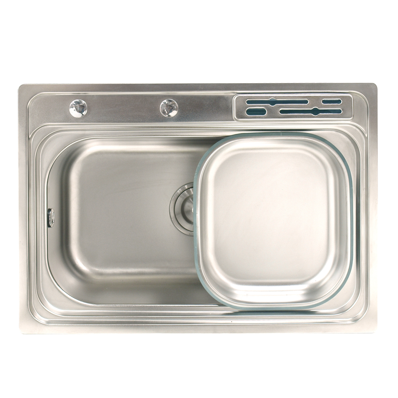 Basin Single 65 x 45cm with Tray