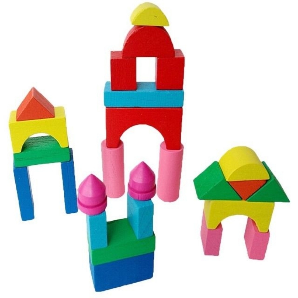 Colorful Lilong Wooden Block Toy for Baby and Toddler