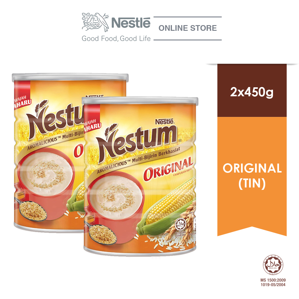 NESTLE NESTUM All Family Cereal Original Tin (450g x 2 tins)