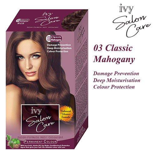 Ivy Salon Care Hair Dye Color Classic Mahogany 03