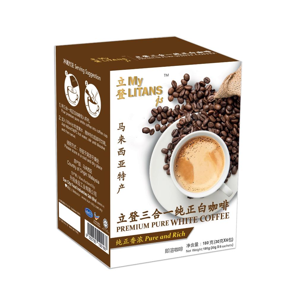 MyLITANSjs 3 in 1 Premium Pure White Coffee (30g x 6 sachets)