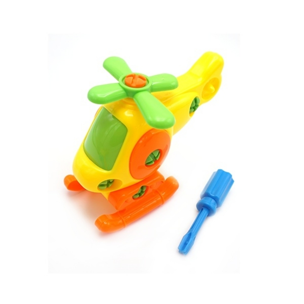 Educational Engineering Assemble Disassemble Helicopter Dismantling Cartoon Toy