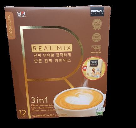Korean French Cafe Premium Excellent Award Freeze-Dried Silky Smooth 3 in 1 Coffee