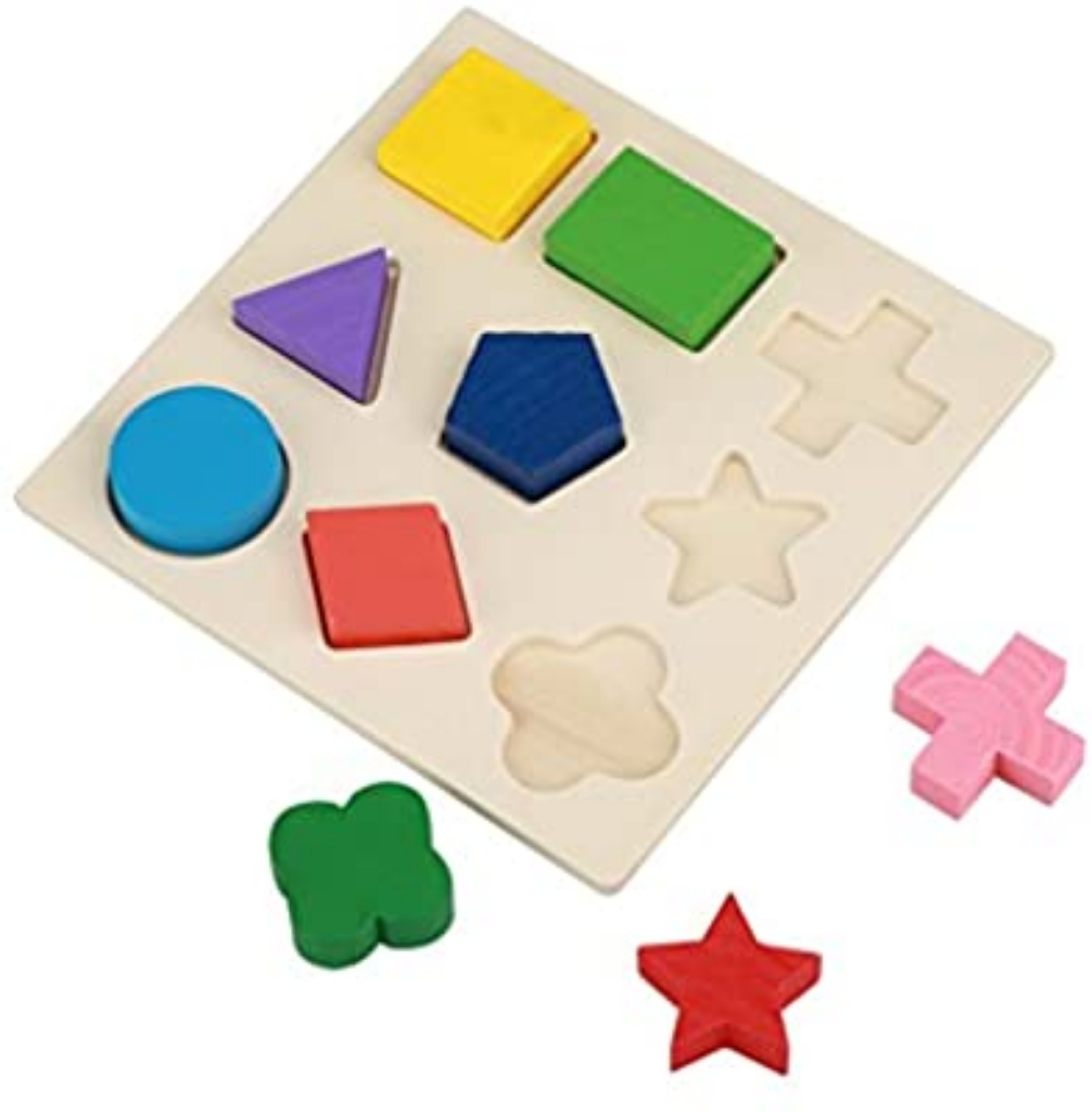 Colorful Wooden 3D Puzzle for Baby and Toddler Early Learning
