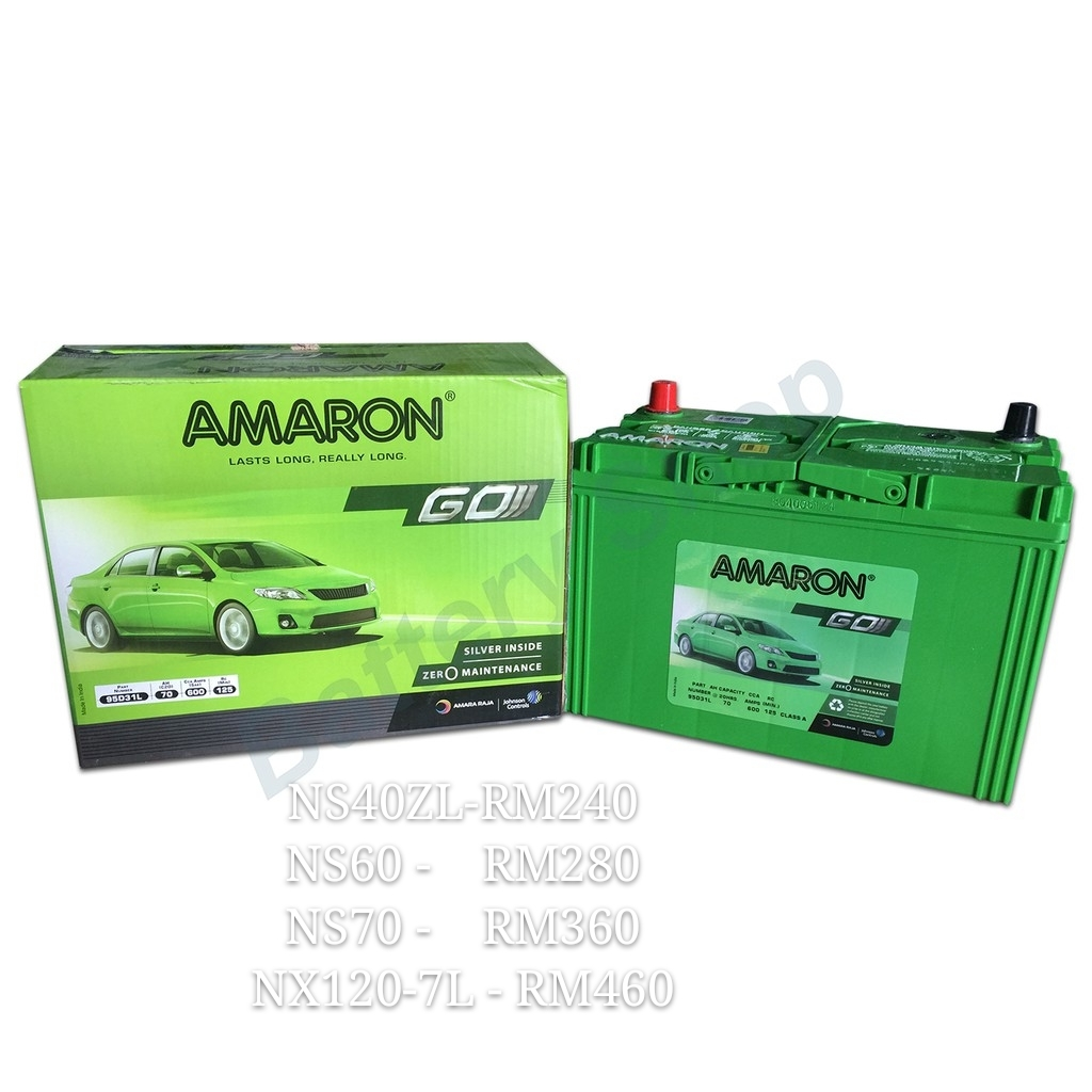 AMARON GO- car battery | NS40ZL | NS60 | NS70 | NX120-7L