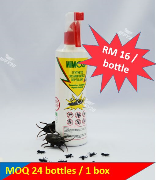 [24 bottles] NIMOSA Organic Insect Spray Repellent (500ml/bottle)