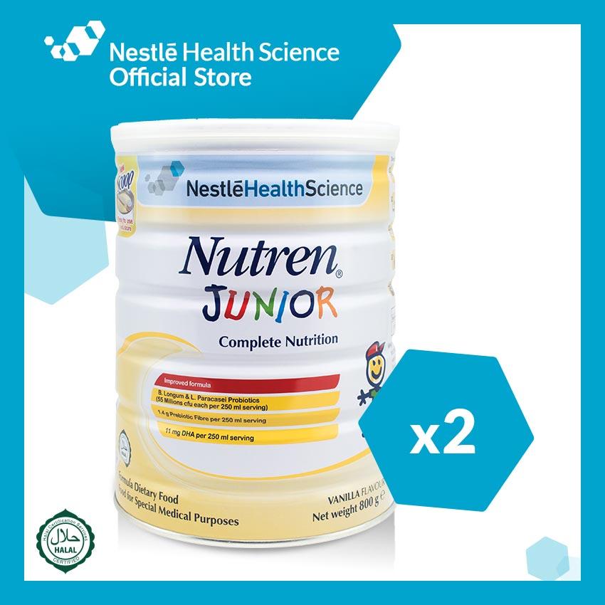 NUTREN JUNIOR Powder Vanilla 800g, Bundle of 2