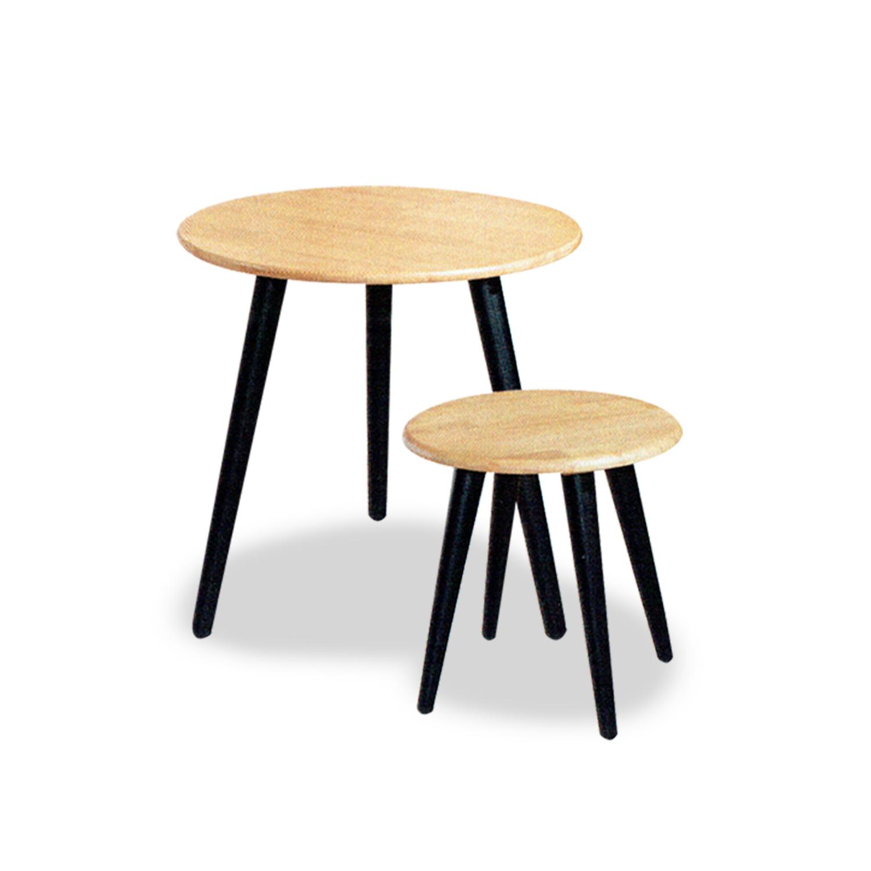 Coffee + Side Table Larsen (Black/Na)