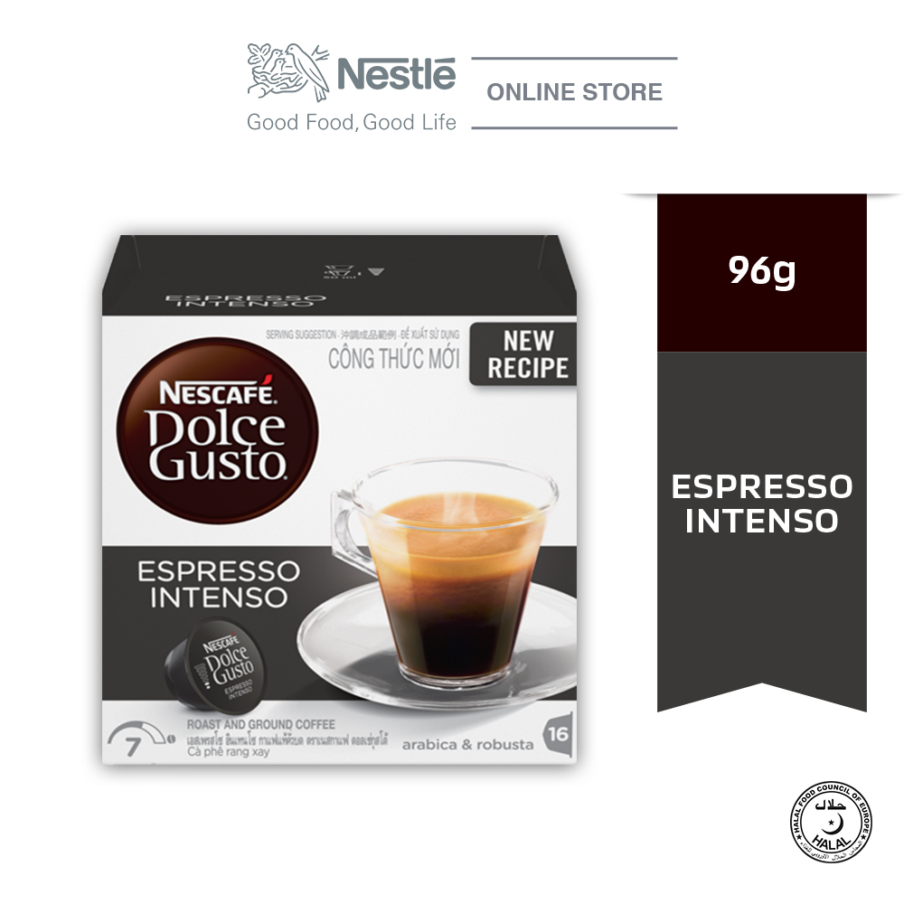 NESCAFE Dolce Gusto Espresso Intenso Coffee 16 Capsules Per Box ExpDate:JUL20