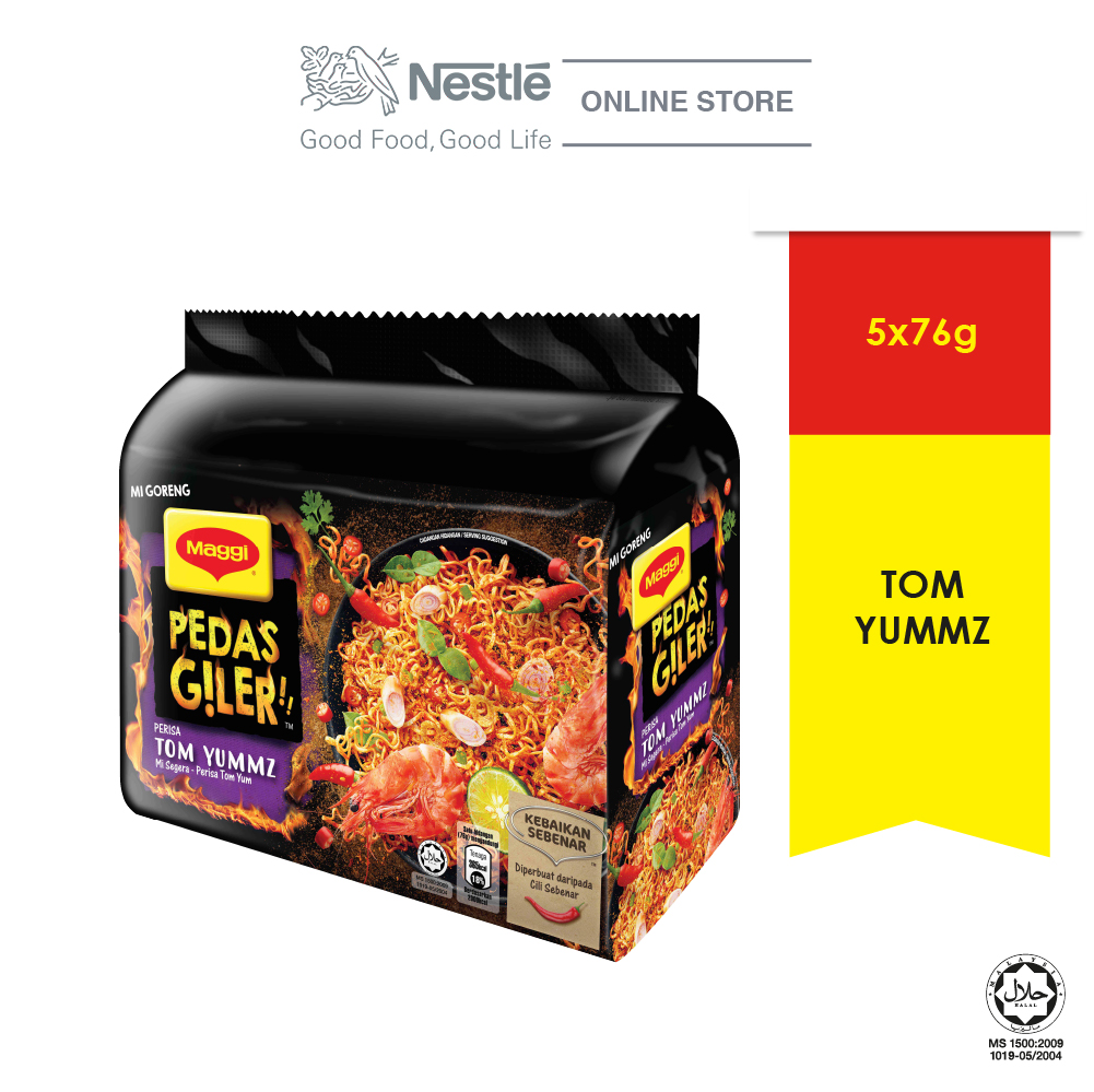 MAGGI Pedas Giler Perencah Tom Yummz 5 Packs 76g Each