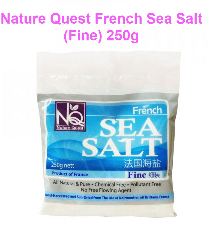 Nature Quest French Sea Salt Fine All Natural 250g