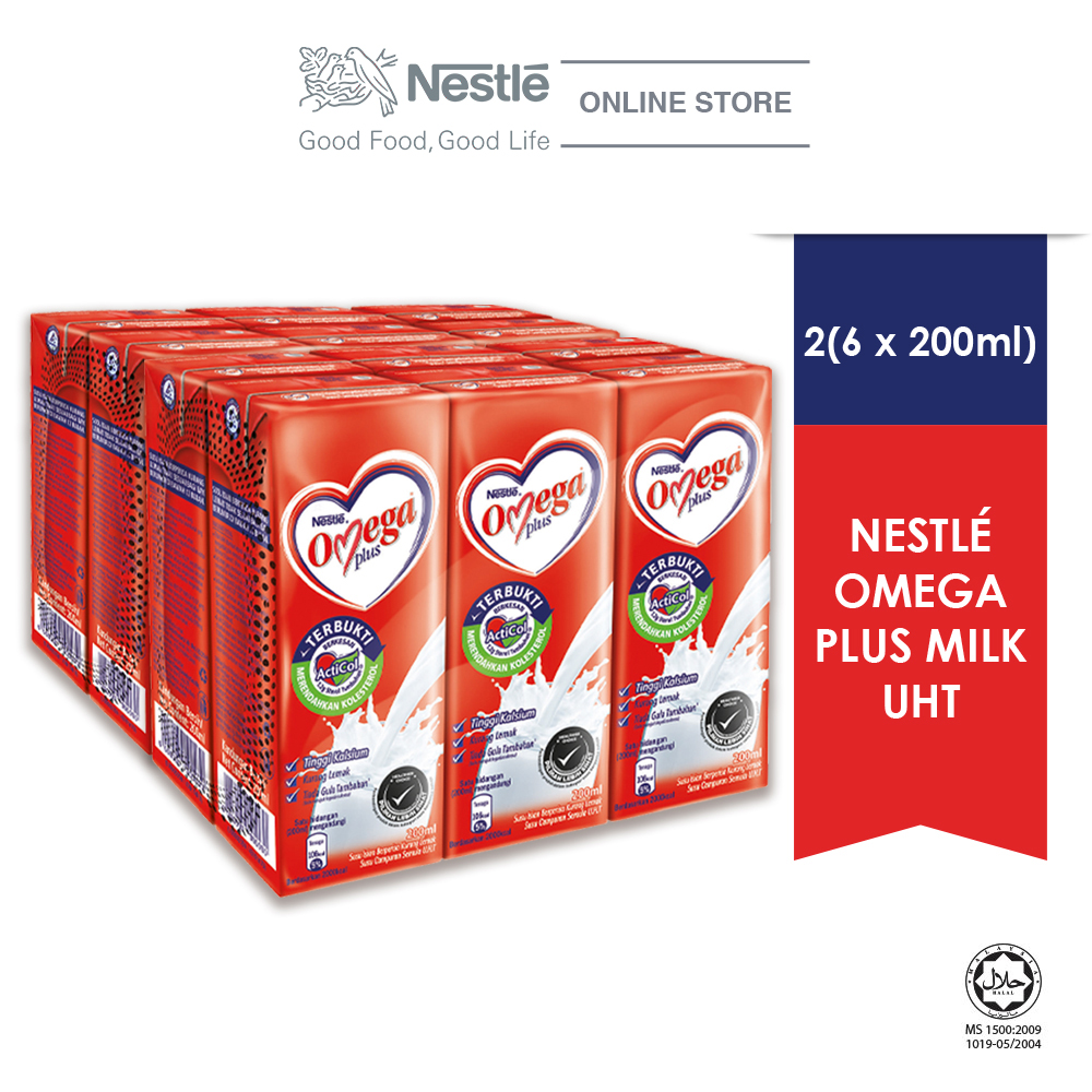 NESTLE OMEGA PLUS 6 Packs 200ml  x2 Multipacks
