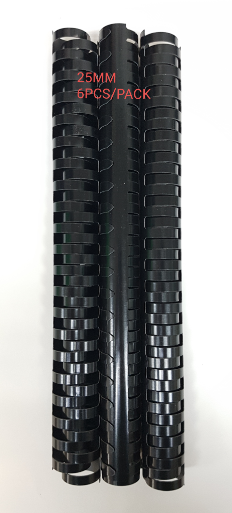 Black Binding Comb 25mm - (6pcs/pack)