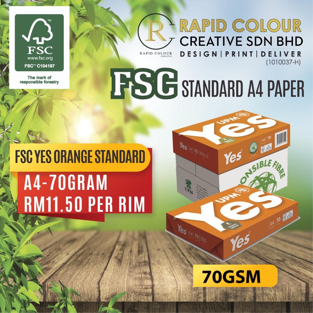 FSC Standard A4 Paper (70 / 80 GSM)