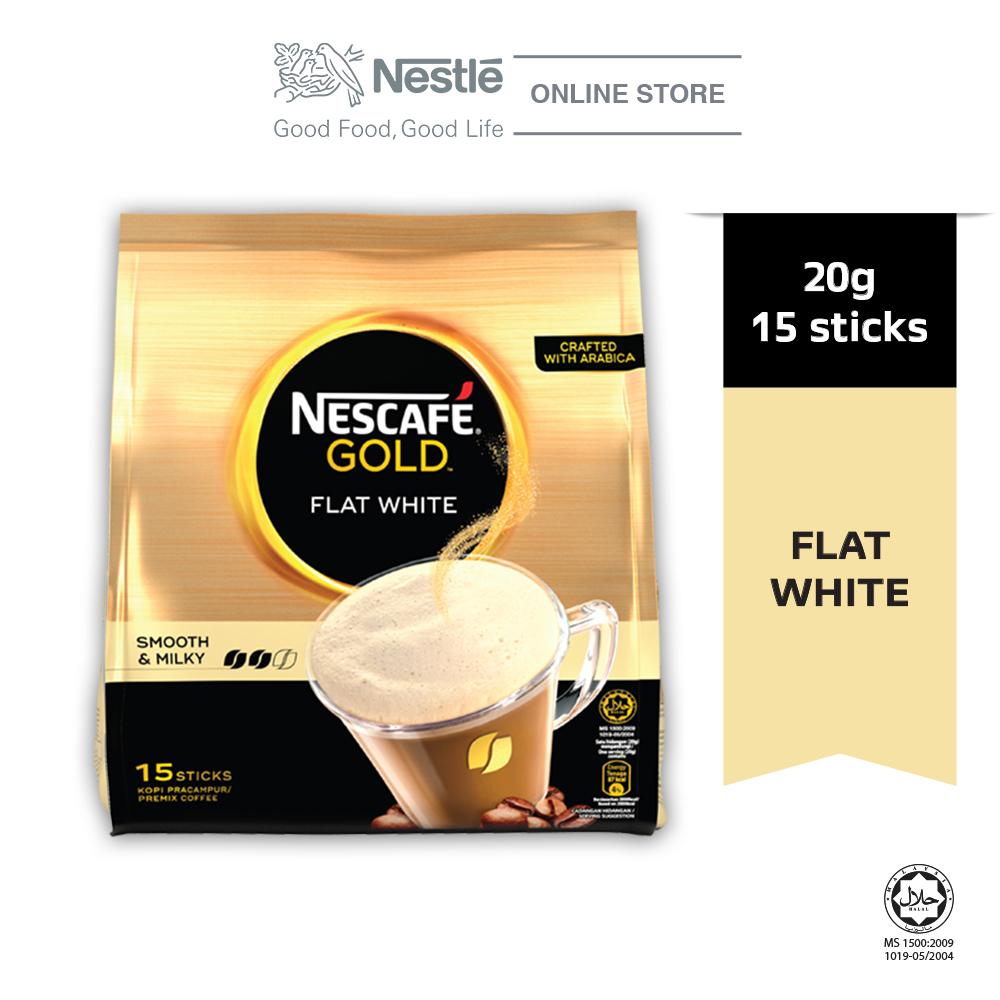 Nescafe Gold Flat White 15 Sticks 20g