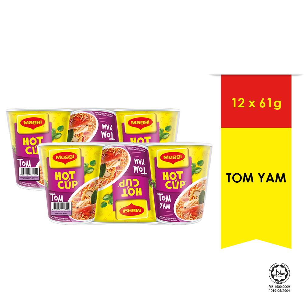 MAGGI Hot Cup Tom Yam 6 Cups 61g x 2 (Multipacks)