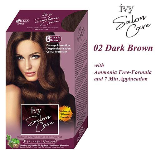 Ivy Salon Care Hair Dye Color Dark Brown 02
