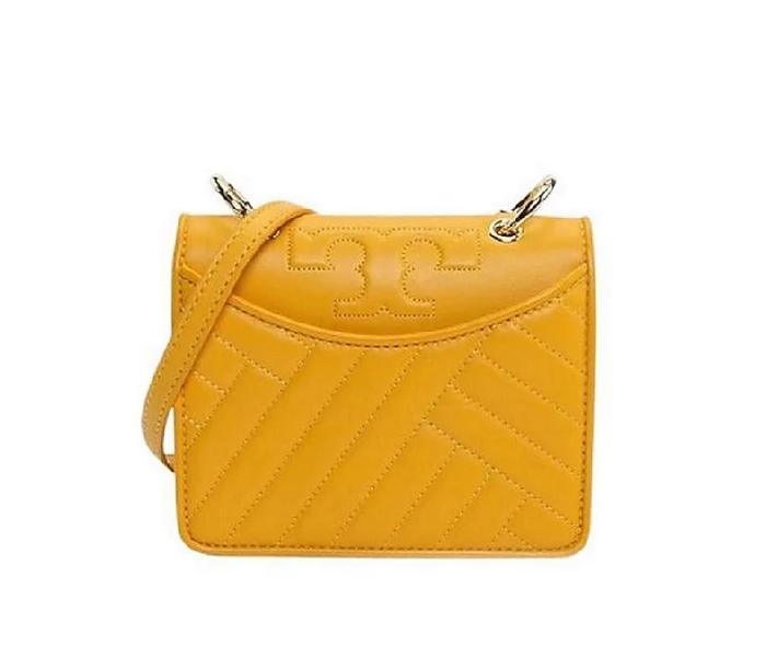Tory Burch Shoulder Bag Alexa Mini Daisy Leather Clutch