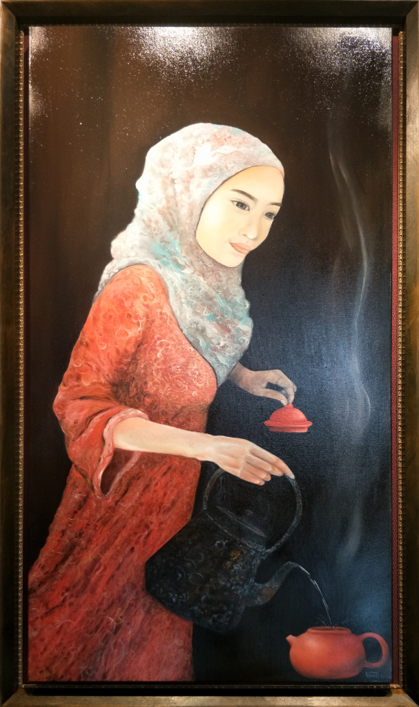 Auspicious Oil Painting By Pa'ang Boon Kean 60.50 cm x 121.50 cm 吉祥油画 洪文娟/绘