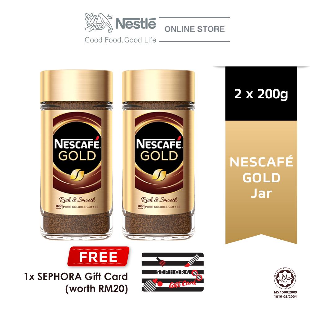 Nescafe Gold Coffee Jar 200g, Buy 2 Free Sephora Gift Card (Worth RM20)