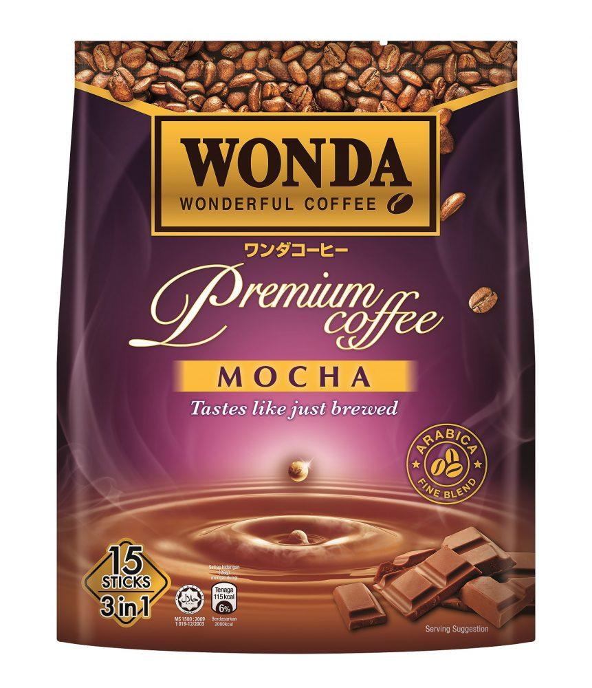 Wonda 3 in 1 Arabic Fine Blend Premium Coffee Mocha 15 Stick per Packs