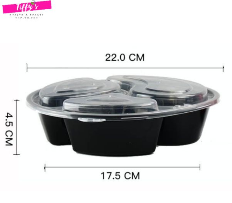 3 Compartment Disposable Bento Lunch Box Container Take Out 1pc