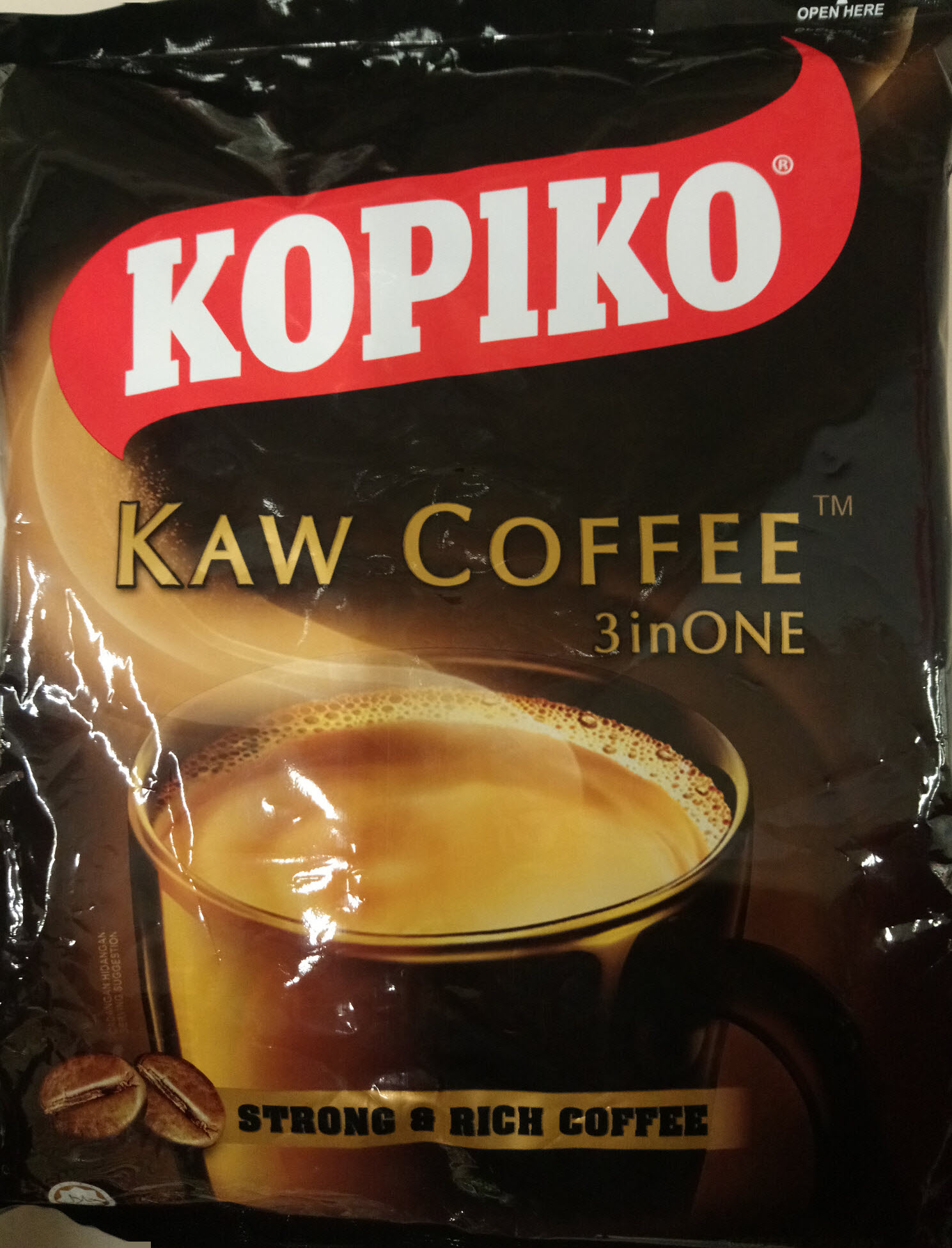 Kopiko Kaw Coffee Strong and Rich Instant Kopi 3 IN 1 (20g x27s)
