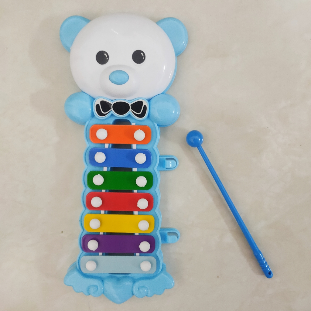 Baby Kids Multi Color Xylophone Musical Instrument Toys Bear Rabbit