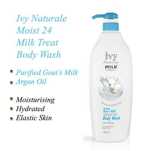 Ivy Naturale Moist 24 Milk Treat Moisturising Body Wash With Goat's Milk & Argan Oil 1000ml