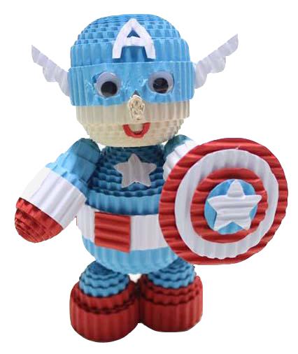 CREATIVE PAPER KOKORU COLOR CORRUGATED PAPER - Captain america