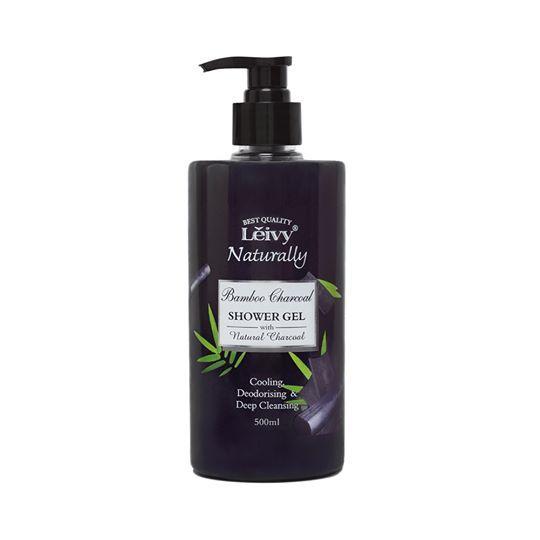 Leivy Naturally Bamboo Charcoa Shower Gel - Natural Charcoal  (500ml)