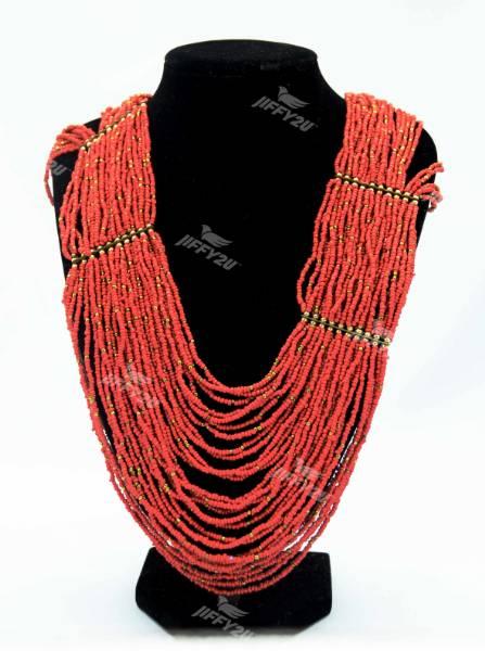 Handmade Designer Bohemian Style Hand-woven Multi-colour Beaded Collar/Statement Bib Necklace