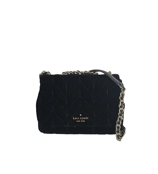 Kate Spade Mini Emelyn Quilted Velvet Crossbody Bag