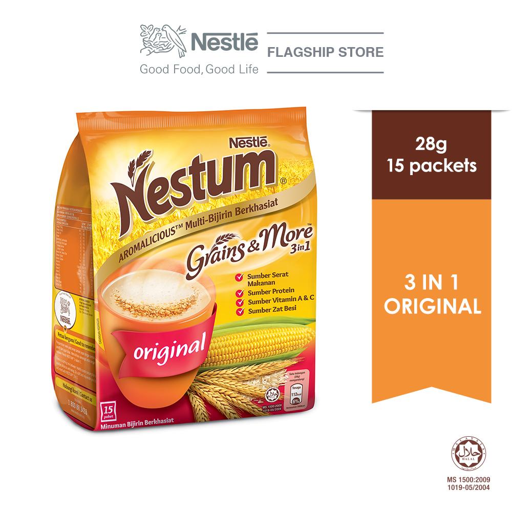 NESTLE NESTUM Grains & More 3 in1 Original 15 Packet 28g