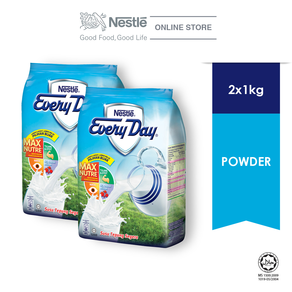 NESTLE EVERYDAY Milk Powder Soft Pack (1kg x 2 packs)