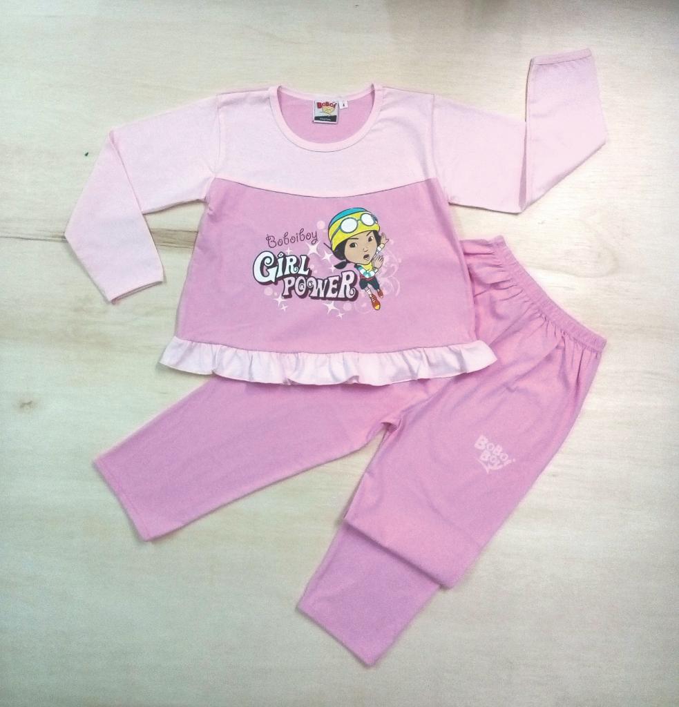 Original BoBoiBoy Ying Character Girl Pyjamas 100%Cotton (BGJ 125)