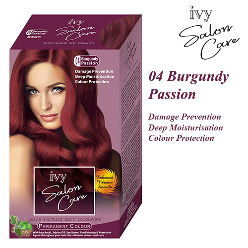 Ivy Salon Care Hair Dye Color Burgundy Passion 04