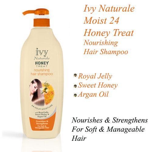 Ivy Naturale Moist 24 Honey Treat Nourishing Hair Shampoo With Royal Jelly, Sweet Honey & Argan Oil  (1000ml)