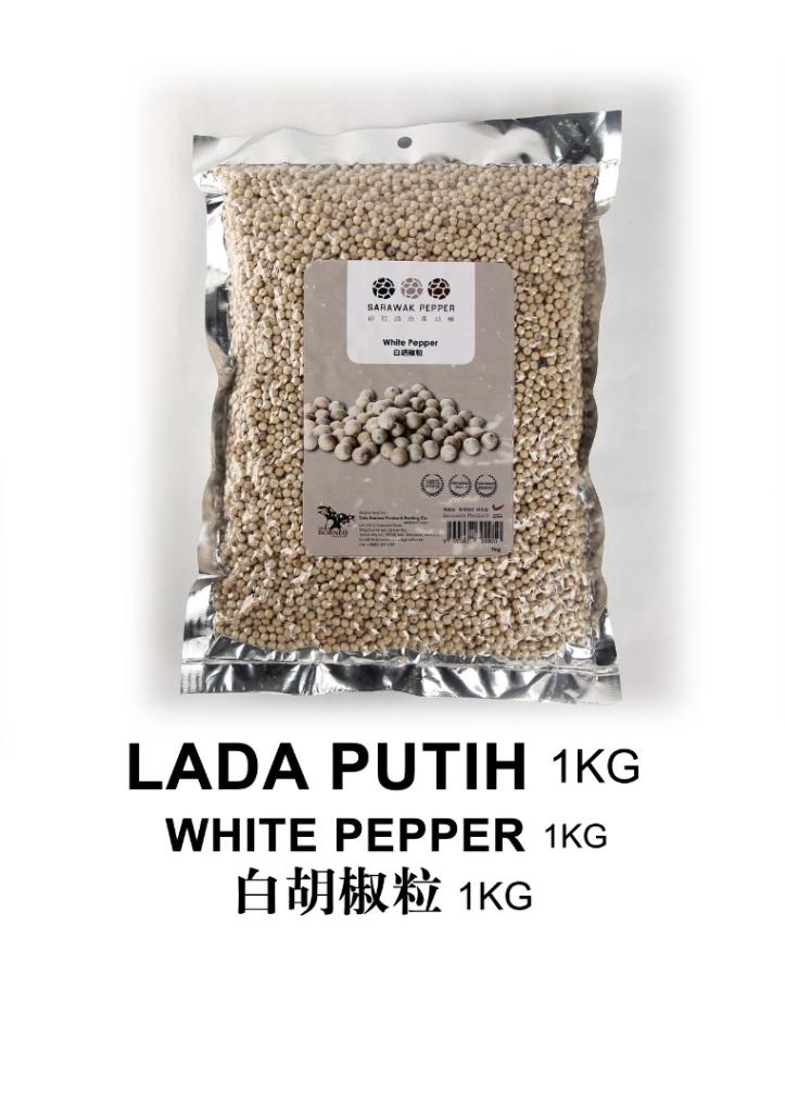 Sarawak White Pepper (1kg vacuum seal pack)