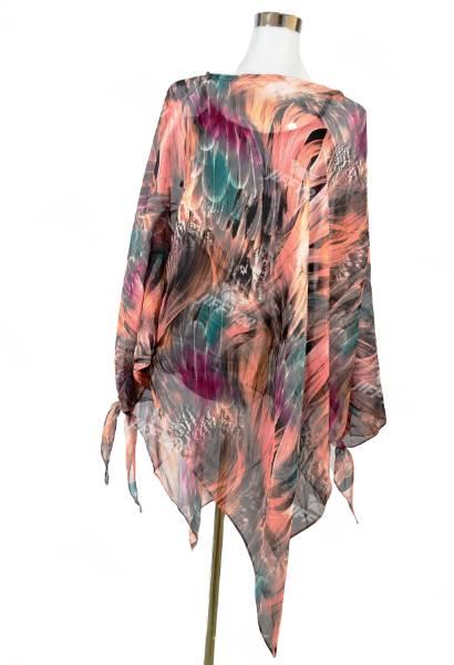 Designer Light Pink Floral Printed Kaftan Top